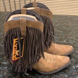 Fringe Ariat cowboy boots USA women's 10 Euro 41.5